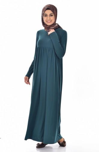 Robe Basic Plissée 1852-06 Vert emeraude 1852-06