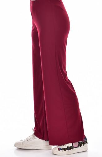 Pantalon élastique et Large 2605-03 Bordeaux 2605-03