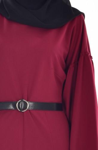 أفرول بتصميم سادة مع حزام خصر  5099-01