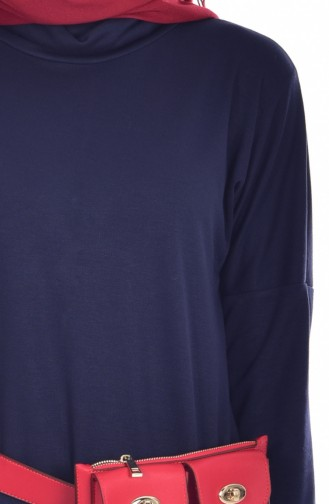 Dress Tunic with Free Band Bonnet 1004-02 Navy Blue 1004-02