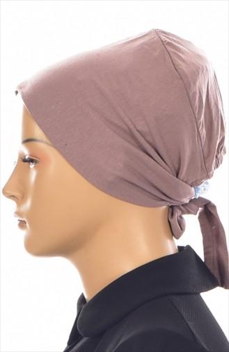 Rutschfester Baumwolle Bonnet 0314-01 Nerz 0314-01
