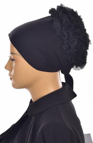 Sefamerve Bonnet antidérapant Froufrous Lycra 0403-01 Noir Froufrous 0403-01