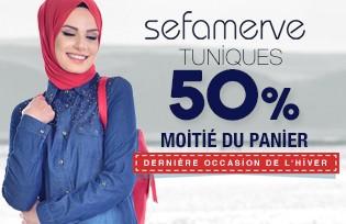 -50% Sur les Modeles de Tunique. Moitié du Panier