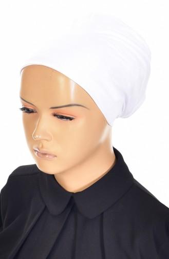 Lycra Non-Slip Bonnet 0302-01 Lilac White 0302-01