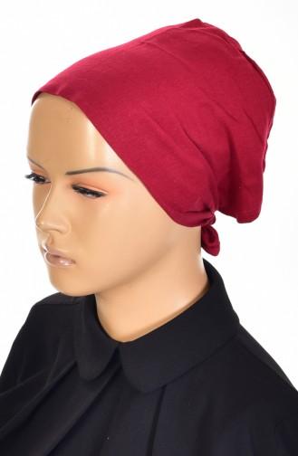 Sefamerve Cotton Non-Slippery Bonnet 0106-01 Burgundy 0106-01