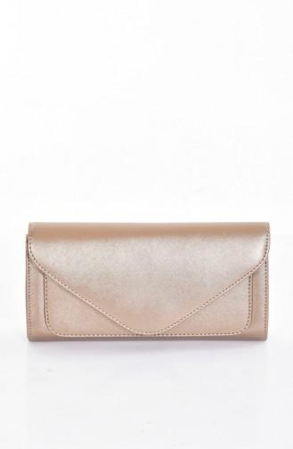 Bronzfarben Portfolio Handtasche 0407-03