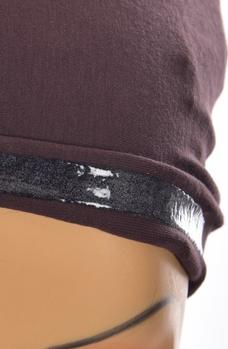 Sefamerve Lycra Non-Slippery Bonnet 0306-01 Brown 0306-01