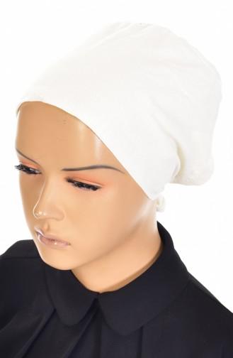 Rutschfester Baumwolle Bonnet 0102-01 Creme 0102-01