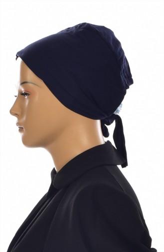 Sefamerve Lycra Non-Slip Bonnet 0305-01 Navy Blue 0305-01