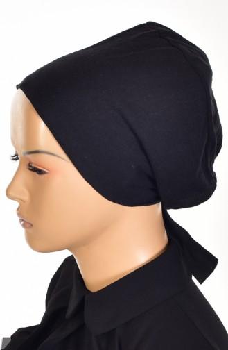 Sefamerve Cotton Non-Slippery Bonnet 0103-01 Black 0103-01