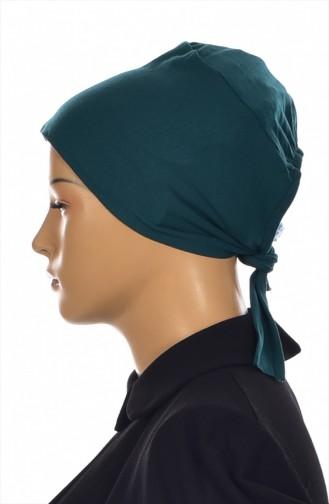 Sefamerve Lycra Non-Slippery Bonnet 0307-01 Emerald Green 0307-01