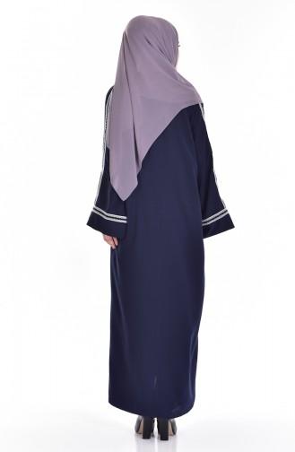 Navy Blue Abaya 1007-01