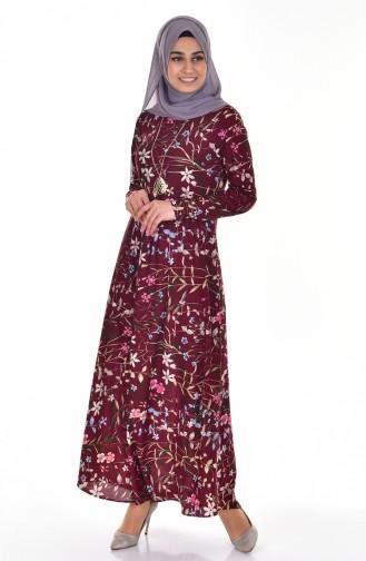Claret red Dress 4124-03