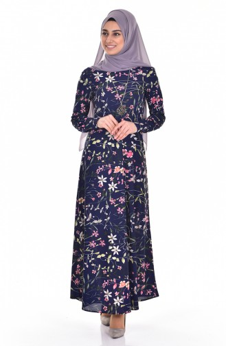 Navy Blue Dress 4124-02