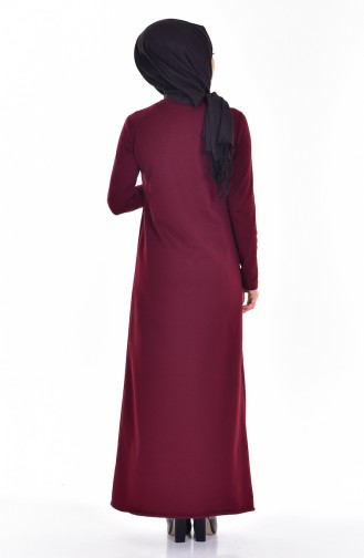 TUBANUR Suit Looking Dress 2895-01 Claret Red Black 2895-01