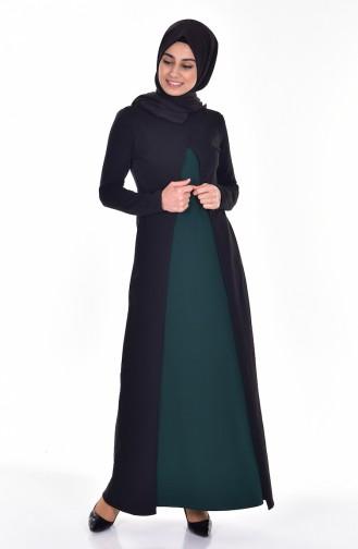 Robe 2895-04 Siyah Vert emeraude 2895-04