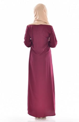 Claret red Dress 9012-04
