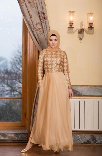 Gold İslamitische Avondjurk 7944-01