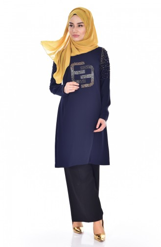 Navy Blue Tuniek 300052-01