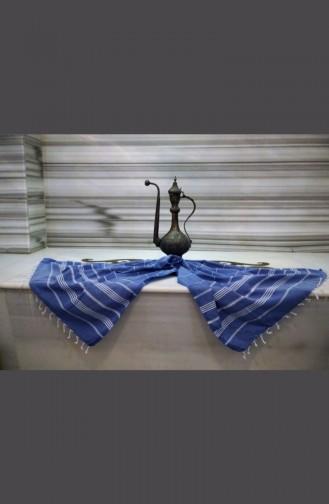 منشفة خصر بتصميم مُحاك و مُخطط  9005-01 لون أزرق 9005-01