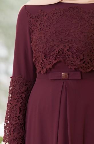 فستان بتصميم سادة مع تفاصيل من الدانتيل  52670-05