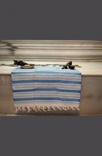 Saraylı Pestemal Wide Striped 9004-04 Turquoise 9004-04