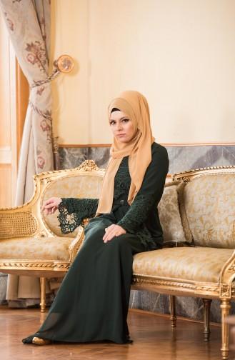 Green İslamitische Avondjurk 52670-02