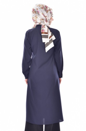 Tunique Col Cravate 9008-05 Bleu Marine 9008-05