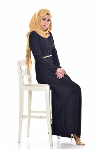 Black İslamitische Jurk 9294-02