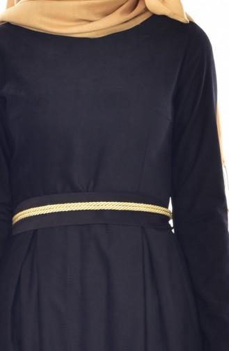 Kleid mit Gürtel  9294-02 Schwarz 9294-02