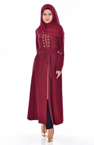 Claret red Abaya 2123-03