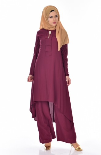 Tunic Trousers Double Suit 9005-05 Cherry 9005-05