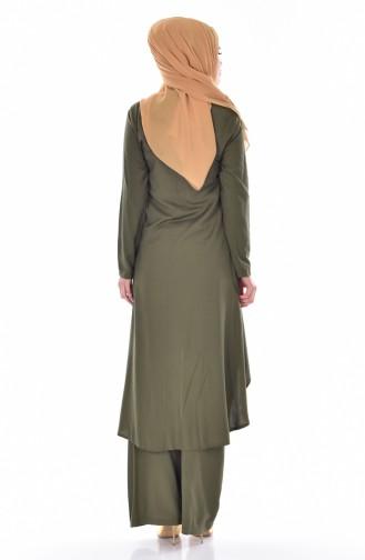 Tunik Pantolon İkili Takım 9005-11 Yeşil 9005-11