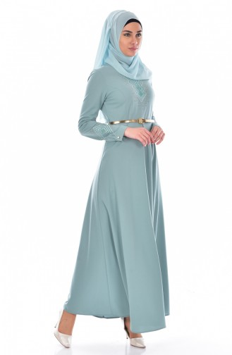 Green İslamitische Jurk 0508-05