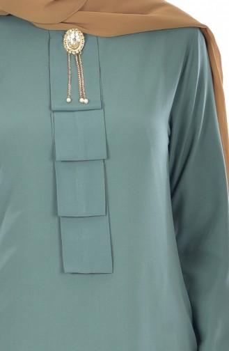 Ensemble Deux Pieces Tunique Pantalon 9005-06 Vert Noisette 9005-06
