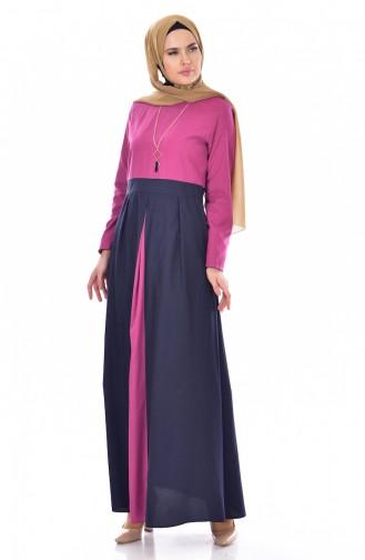 فستان بتصميم مميز مع سلسال  2265-07