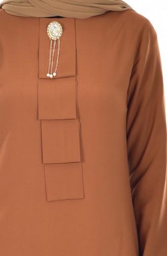 Tunik Pantolon İkili Takım 9005-07 Taba