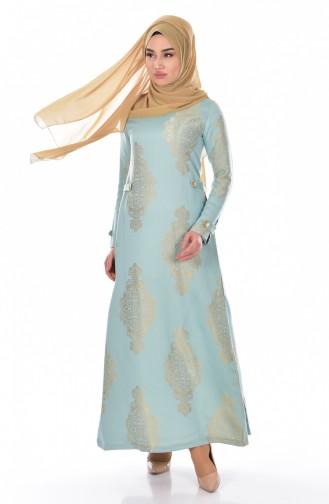 Minzengrün Hijap Kleider 5505-01
