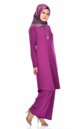 Tunic Trousers Double Suit 9013-04 Plum 9013-04