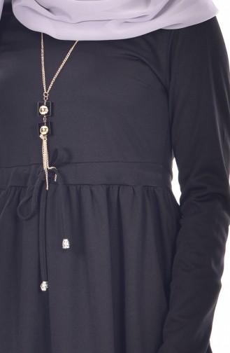 Robe avec Collier 1081-01 Noir 1081-01