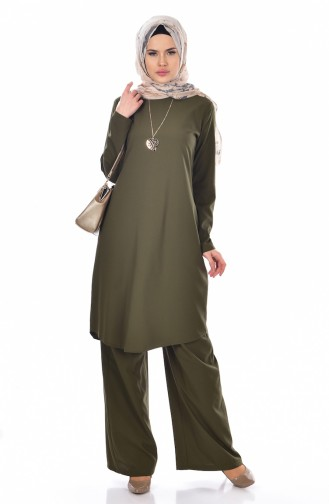 Tunic Trousers Double Suit 9013-06 Green 9013-06