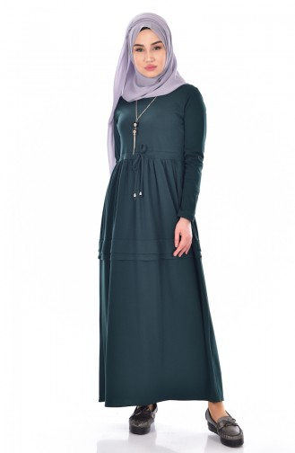 Kleid mit Halskette  1081-03 Smaragdgrün 1081-03