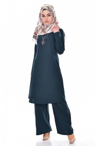Tunik Pantolon İkili Takım 9013-05 Zümrüt Yeşili 9013-05