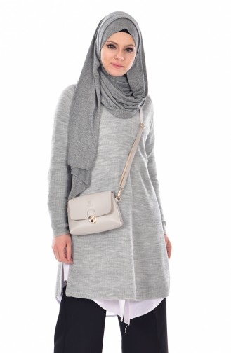 Pull Tricot 2022-08 Gris Clair 2022-08