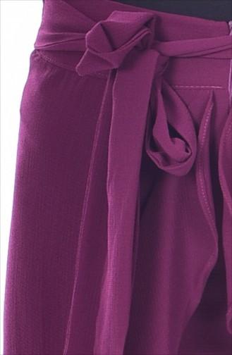 Pantalon a Ceinture 2582-02 Plum 2582-02