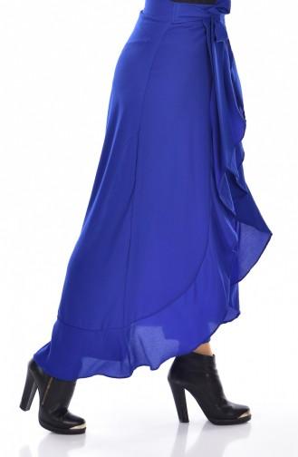 Pantalon a Ceinture 2582-06 Bleu Roi 2582-06