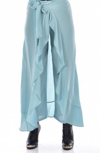 Pantalon a Ceinture 2582-04 Vert eau 2582-04