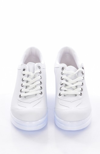 White Sport Shoes 0105-02