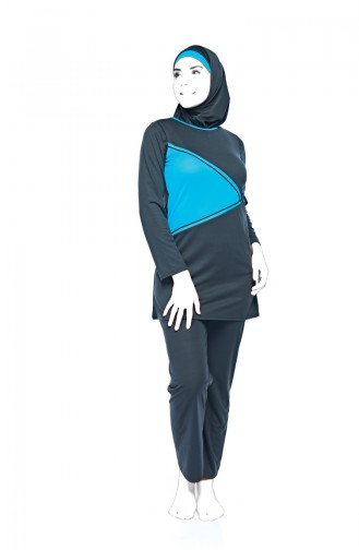 Light Black Swimsuit Hijab 0549-04