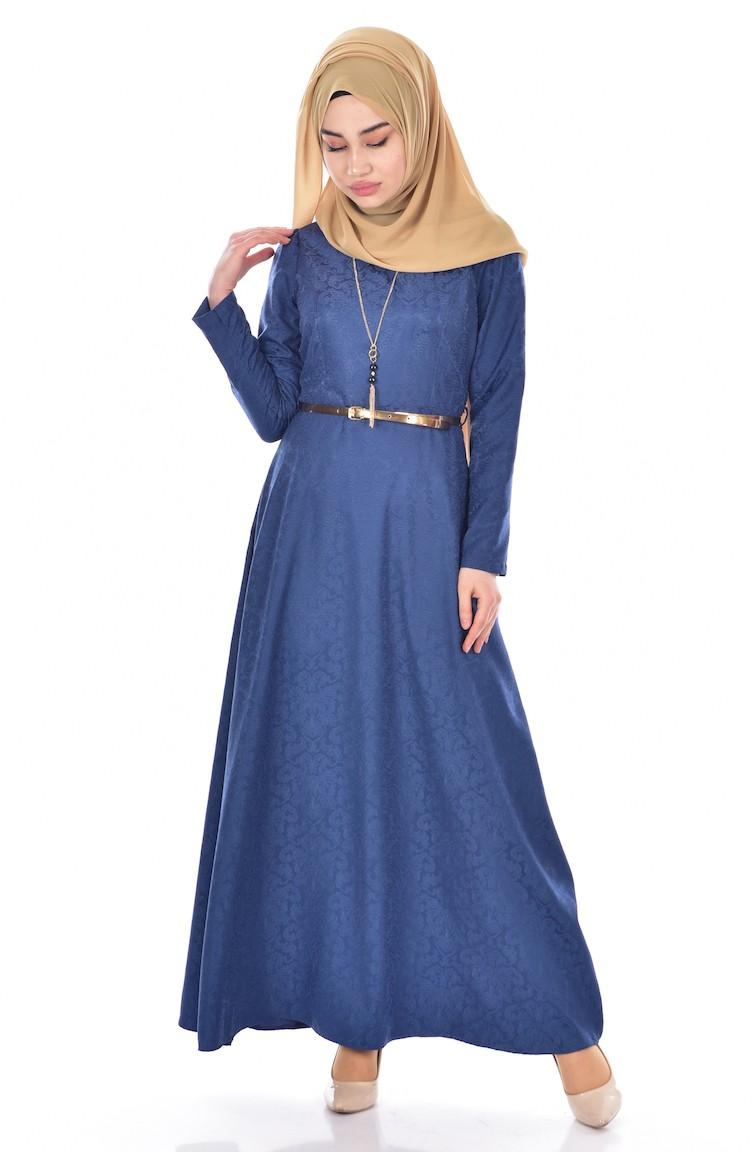 Light Navy Blue Dress 3951-10 d95fe3b0a